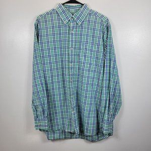 Southern Tide Plaid Long Sleeve Button-up Shirt